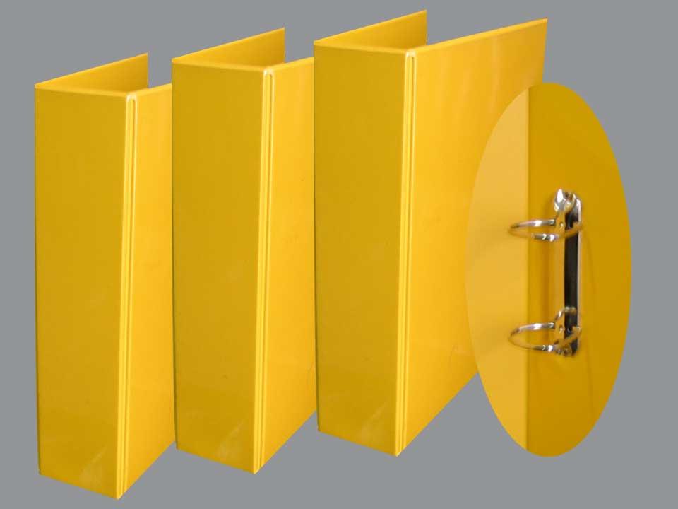แฟ้มพีวีซีสีเหลือง