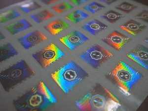 สติ๊กเกอร์โฮโลแกรมกันปลอม-Dot-Matrix